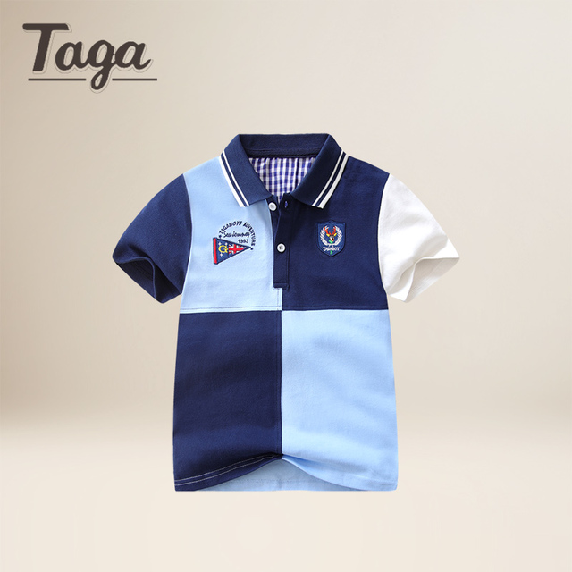 f5d0e6583 TAGA 2017 New Kids Polo Shirts Baby Boys Kid Tops Shirt Summer Short Sleeve  fashion Tops Designer Boys Clothes baby shirt boy