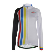 TVSSS New Style Women's Winter Long Sleeve Cycling Jersey Breathable Sportswear Mountain Bicycle Clothing Stripe Print