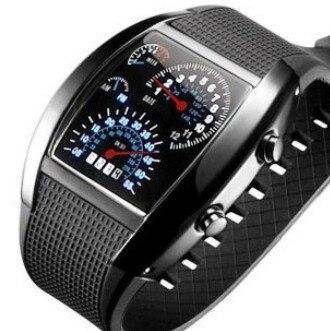 Men's Watch Silicone Car Meter Dial Sports LED Digital Watches Women&Men Popular Casual Watch relogio masculino erkek kol saati стоимость