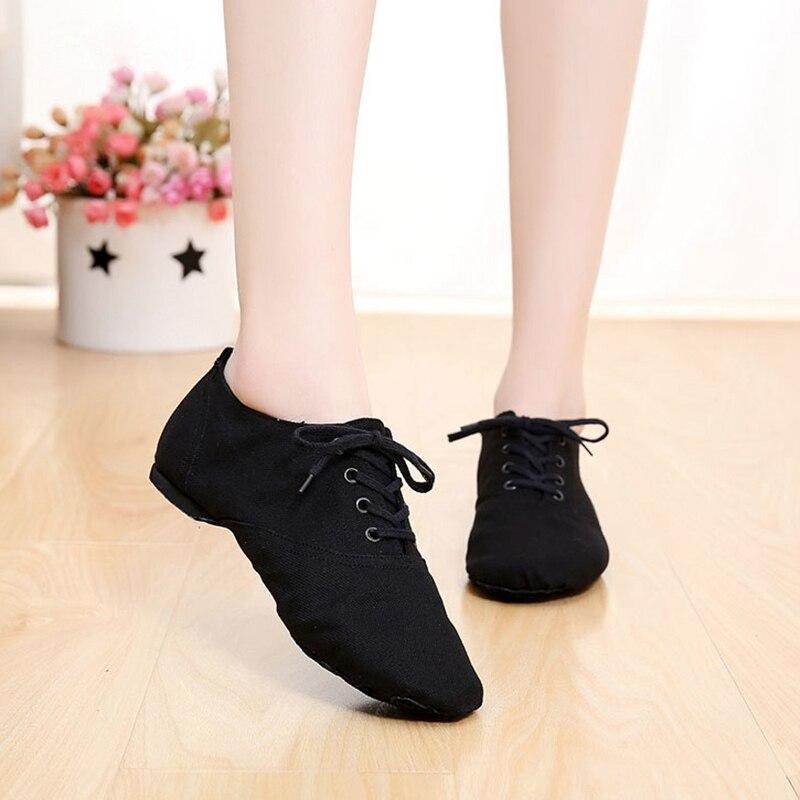 Soft Cloth Dance Jazz Shoes Ballet Shoes For Men Women Black Sneakers Gymnastics Fitness Shoes