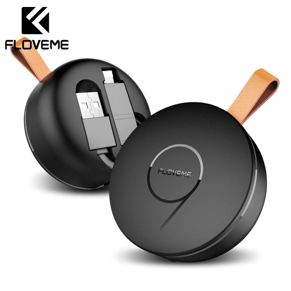 Novedoso Pack USB retráctil Cable de teléfono para el rayo cargador Micro USB 2 en 1 para iPhone X 8 Android IOS de carga cable de sincronización de datos