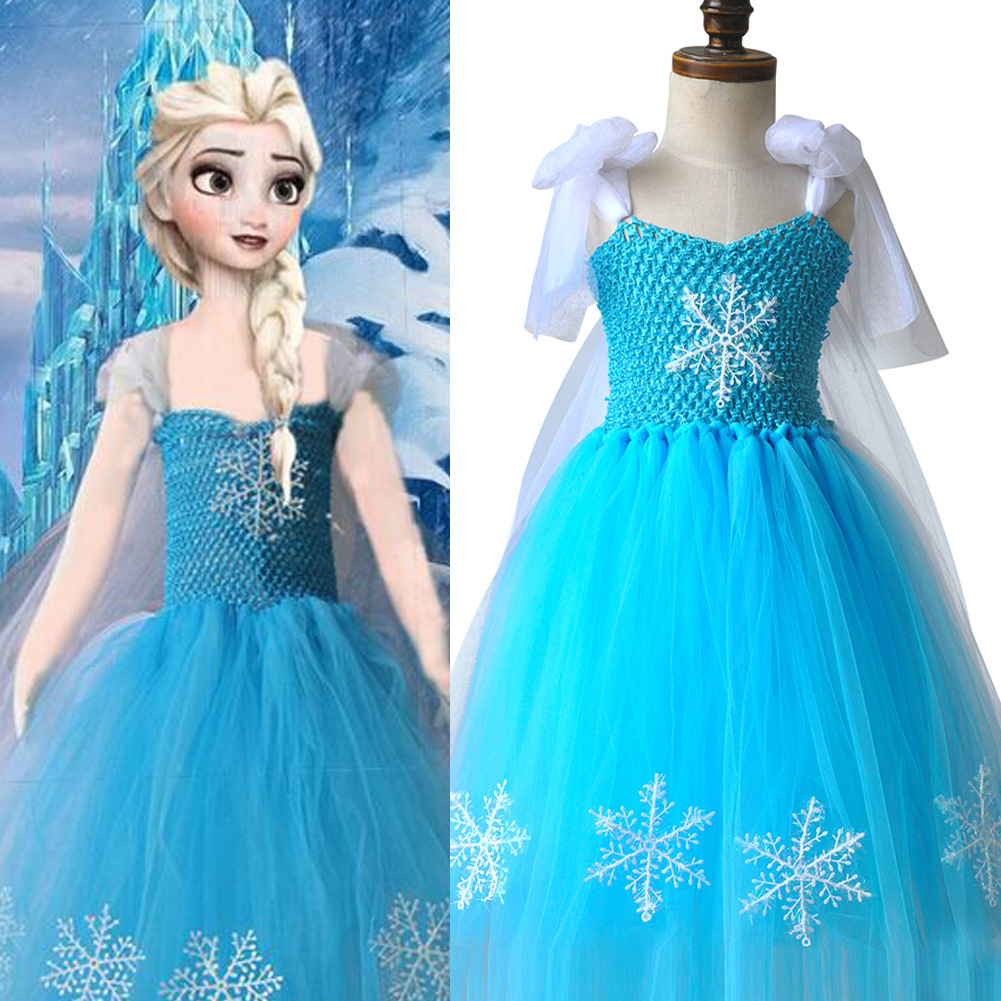Blue Tulle dress Winter Fairy Costume Gorgeous Party Dress Snow ...