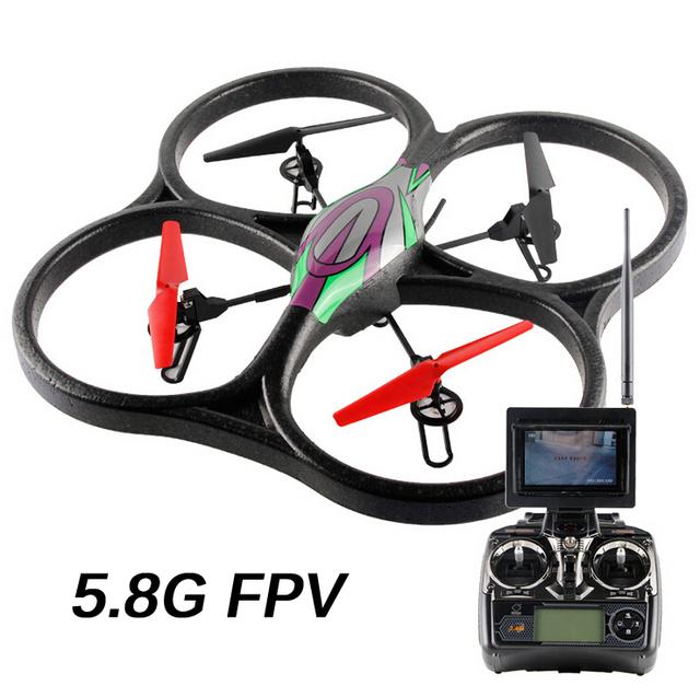 Wltoys WL V666 5.8 G FPV Aviones 6 Axis GYRO RC 2.4 G helicóptero teledirigido de Quadcopter 4CH Drone con HD Monitor de la cámara RTF