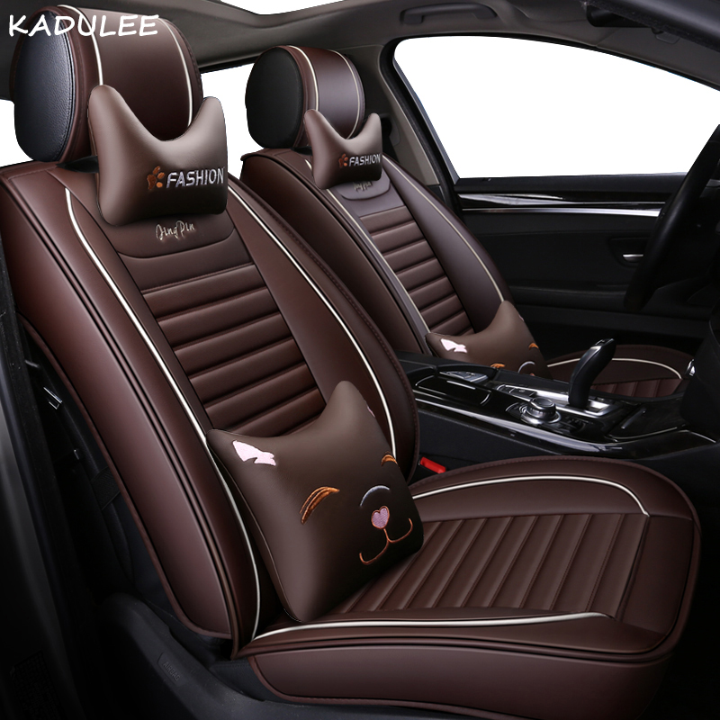KADULEE PU Leather Auto Car <font><b>Seat</b></font> <font><b>Covers</b></font> for <font><b>peugeot</b></font> all models 307 206 308 407 207 406 408 <font><b>301</b></font> 508 2008 3008 4008 car styling image