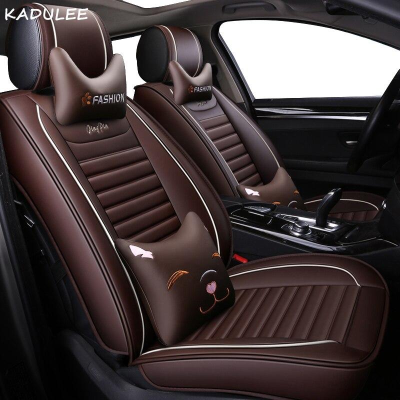Kadulee из искусственной кожи авто чехлы на сиденья для peugeot все модели 307 206 308 407 207 406 408 301 508 2008 3008 4008 стайлинга автомобилей