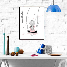 Pop Carton Girl Paintings Canvas Posters Pictures Art and Prints for Baby Kids Wall Decoration Home without Frame