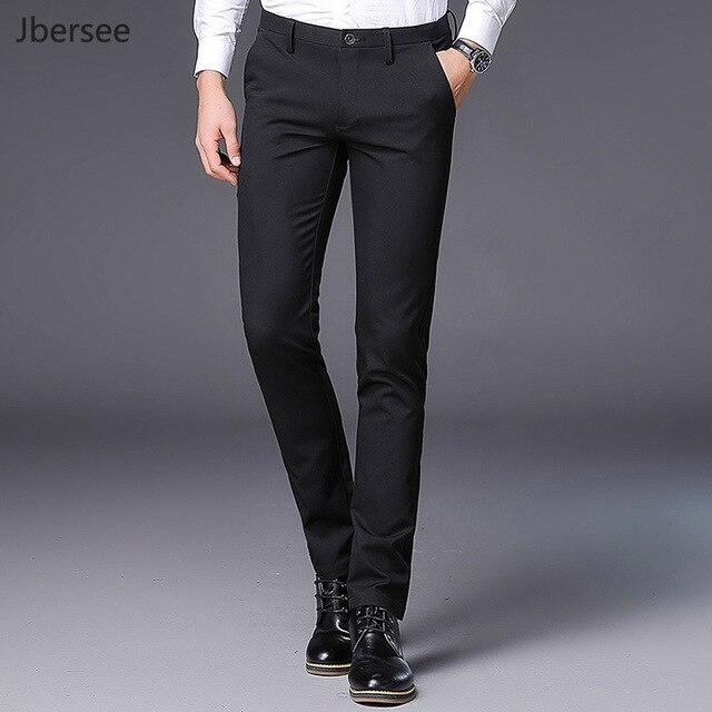 89df6813324 Men s Black Formal Suit Pant Slim Fit Business Men Classic Pants Trousers  Office Wedding Men Dress Pants Perfume Masculino