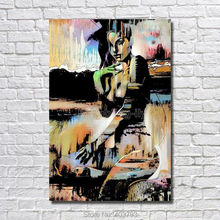 Hand-painted Abstract Canvas Oil Painting Girl Figure Naked Woman Wall Art Home Decoration цена в Москве и Питере