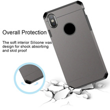 Купить с кэшбэком Shockproof case for iPhone X/XS ,ImpactStrong Heavy Duty Dual Layer Protection Cover Heavy Duty Case for iPhone X/Xs 5.8 inch