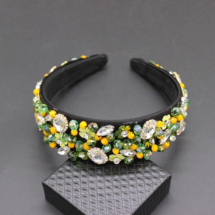 Image 4 - Handmade Wedding Hair AccessoriesLuxury Charm Baroque Sequins Bead Crown Tiara  Hair Bands Crystal Headband 269-in Hair Jewelry from Jewelry & Accessories