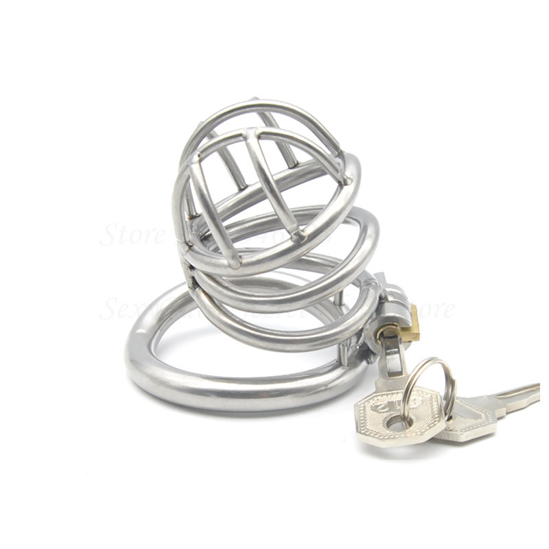 Buy Newest Stealth Lock Ergonomic Design Male Chastity Device,Stainless Steel Cock Cage,Penis Ring,Virginity Lock,Chastity Belt