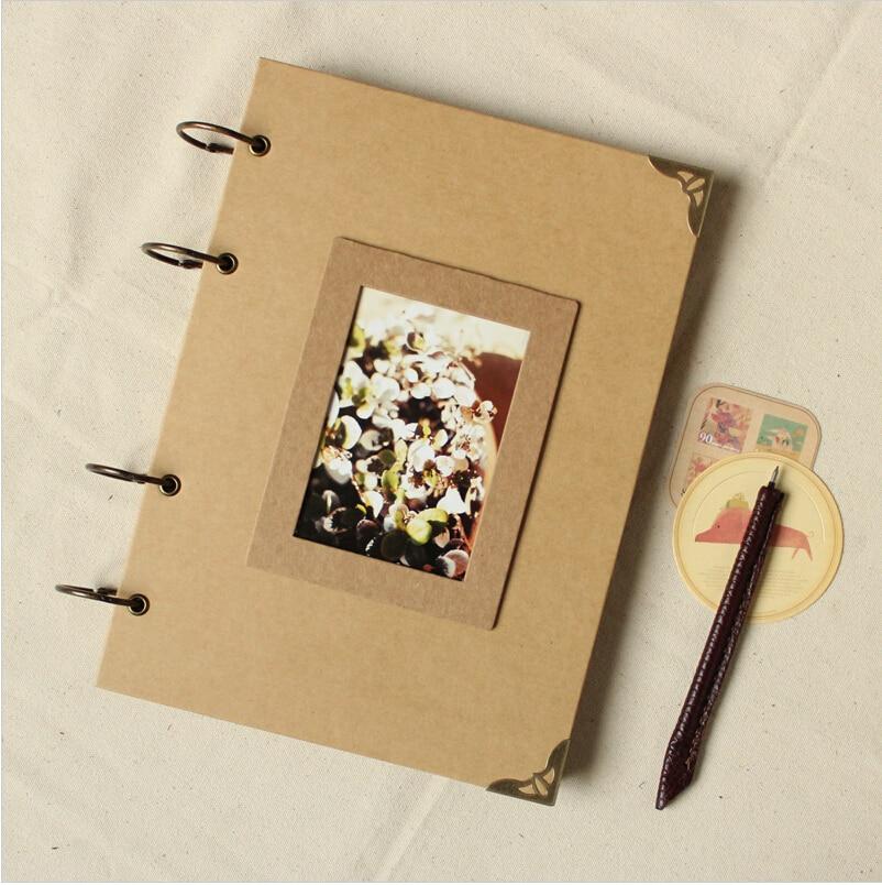 Black, 40 Sheets DIY Handmade Album Scrapbook with Plastic Cover