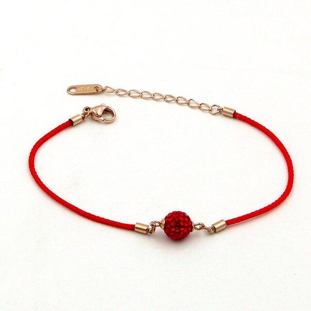 Купить модные ювелирные изделия браслет из красного шнура с бусинами