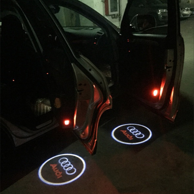 2X Car LED Courtesy Door Projector Light Logo Light Projector FOR AUDI A1 A3 A4 A6 & 2X Car LED Courtesy Door Projector Light Logo Light Projector FOR ...