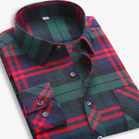 2015 Autumn And Winter Loose Large Size Men Wear Mao Gezi Inch Flannel Shirt Shirt Casual