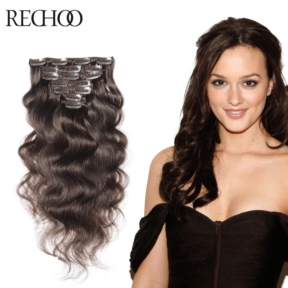 Remy Clip Human Hair Extensions 26 Inch Clips In Hair Extension Clip