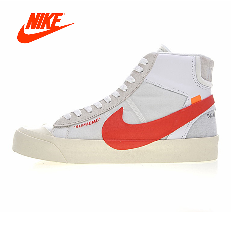 Original New Arrival Authentic NIKE BLAZER MID Men Skateboarding Shoes Wraparound Non-slip Wear-resistant Balanced Breathable nike original new arrival mens skateboarding shoes breathable comfortable for men 902807 001