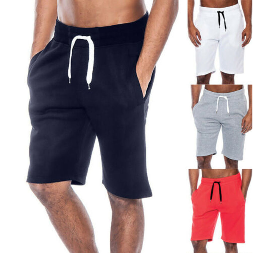 Mens Gym Casual Sports Jogging ELASTICATED WAIST Shorts Sweat Pants Trousers New