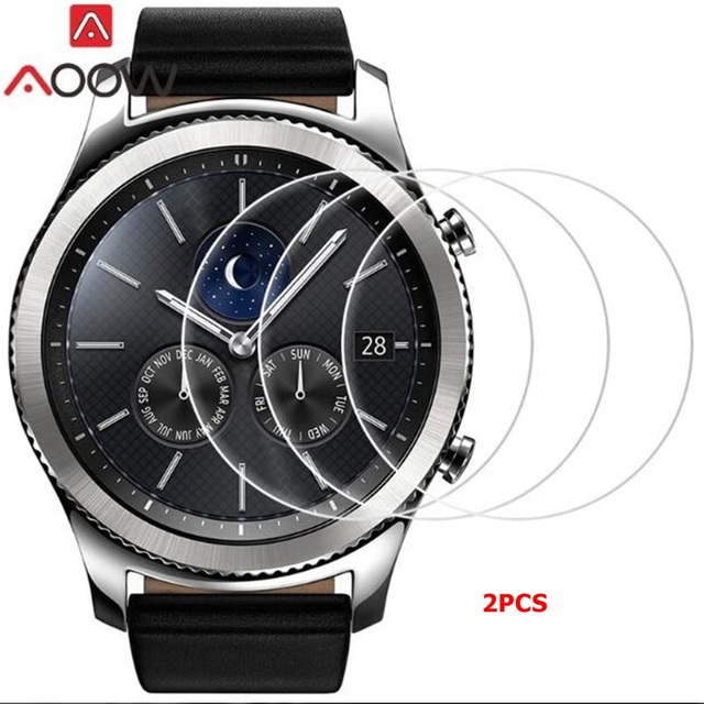 AOOW 2pcs Tempered Glass For Samsung Galaxy Watch Gear S3 Frontier/classic S2 Sc