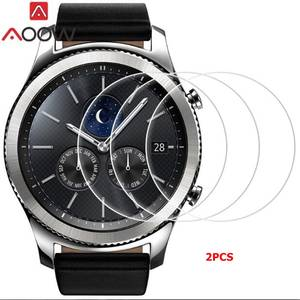 AOOW Tempered-Glass Screen-Protector 46mm-Gear Galaxy Watch Classic Sport Samsung S3 Frontier