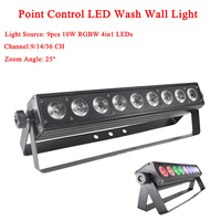 LED Wash Wall 9x10W RGBW 4IN1 Stage Lighting With Running Horse Point Control DMX512 Professional Stage Effect DJ Equipmen
