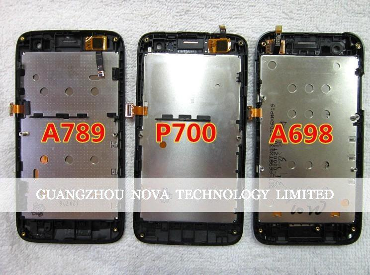 ФОТО Replacement For Lenovo A789 LCD Display + Glass Digitizer Touch Screen Assembly + Frame With Logo; HK Post Free