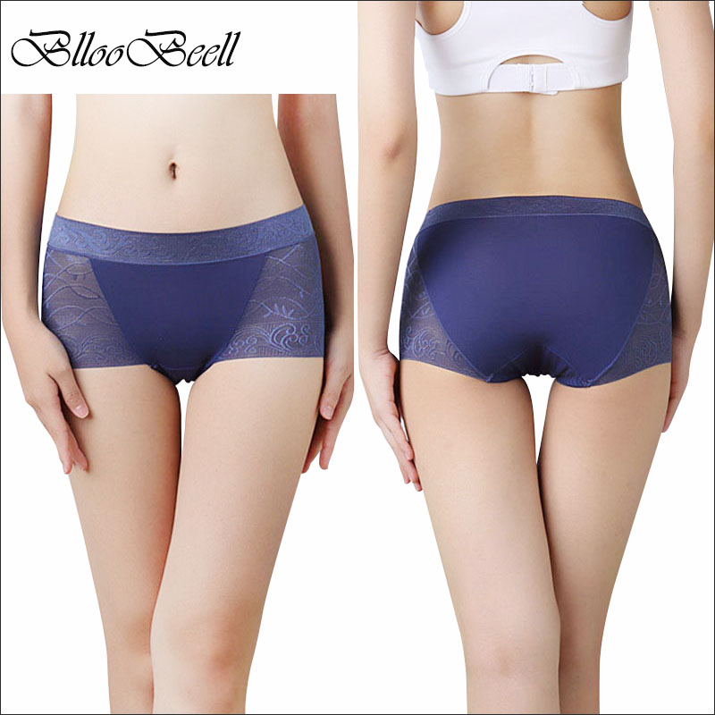 BllooBeell Lace Seamless Underwear Women Sexy   Panties   Cotton Crotch Women's Briefs Mid-Rise Female Underpants Lingerie SizeM-XXL