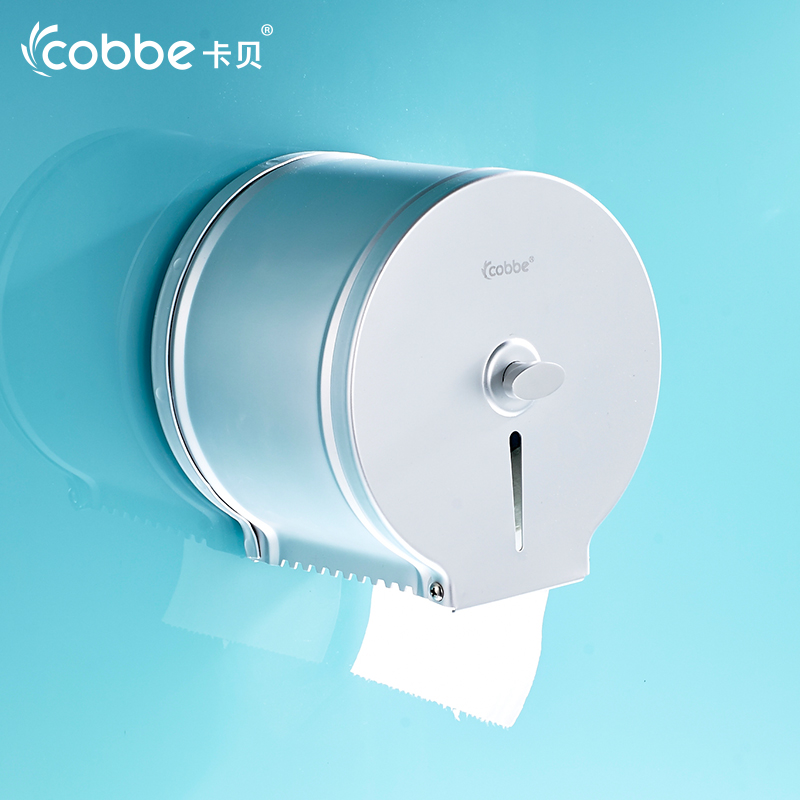 ФОТО Solid Silver Toilet Roll Holder Wall mounted WC Paper Holder Paper Holder Paper Storage Box Bathroom Accessories Cobbe 11310