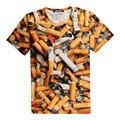 De tercera Mano Podría Matarte de Impresión 3D Camiseta Cigarrillos Homme Adolescentes Unisex Traje de Camisetas de Verano Flojo Tops