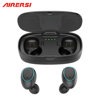 Newest TWS Invisible Mini Bluetooth Earphone 3D Stereo Hands Free Noise Reduction Sport Bluetooth Headset Wireless