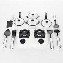11 adet çocuk oyuncak oyna Pretend mutfak tencere Pot Pan aşçı oyun oyuncak simülasyon mutfak eşyaları oyuncaklar Set