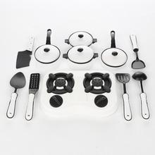 11 個を再生するふりキッチン調理器具鍋パン調理プレイ台所用品道具のおもちゃセット