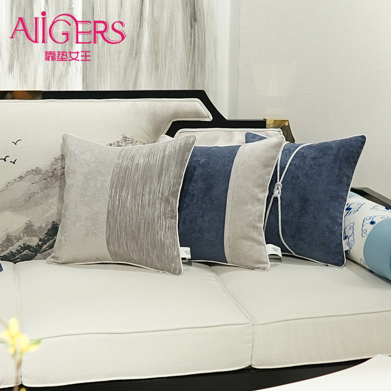 Avigers Velvet Cushion Cover Patchwork Pillowcase Fashion Design Button Rope Pillow Cover Home Decorative Sofa Gift Throw Pillow