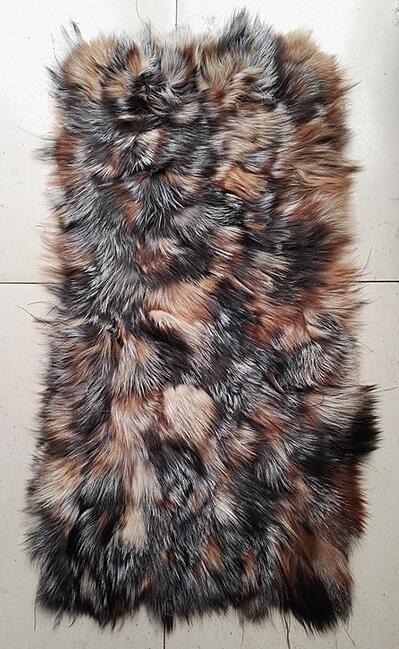 Plaque de fourrure de peau de raton laveur coloré de colorant Direct d'usine/couverture de fourrure de raton laveur