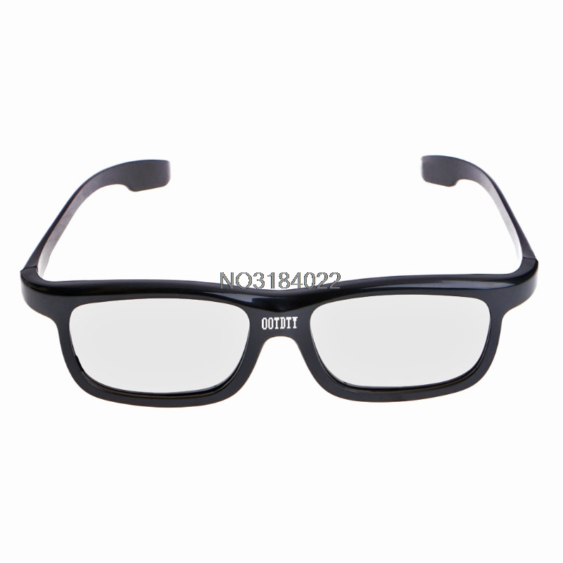 Hottest Circular Polarized Passive 3D Stereo Glasses Black RD3 For TV Real D 3D Cinemas #4XFC# Drop Ship