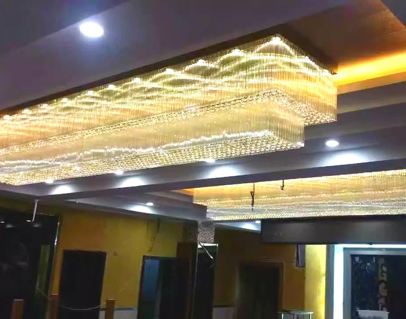 Full Ceiling Crystal Chandelier