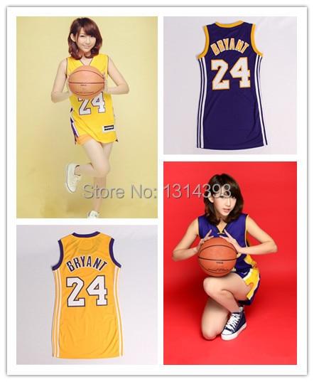 #24 Kobe Bryant Women Woman Basketball Shirt Jersey Sexy Dress Basketball Jersey S-XL free shipping