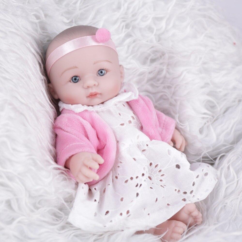 NPK DOLL  mini reborn doll little baby lovely cute toy girls birthday gift promotion 8 inch soft vinyl lifelike real boneca