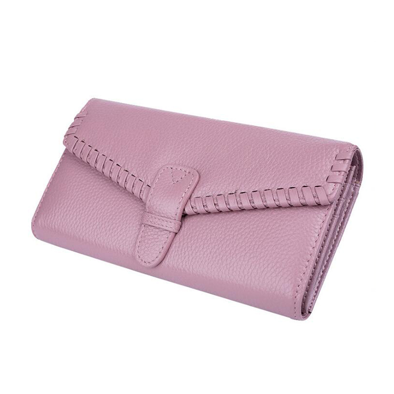 magic wallet Genuine Leather Weave Wallet pink Women money clips Brand Female Purse Luxury Credit Clutch Phone Holders Money Bag