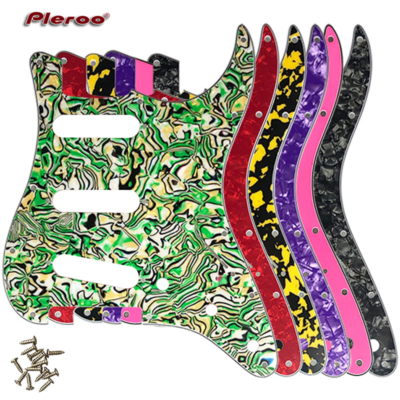 Pleroo Custom Guitar Pickguard - For USA\ Mexico Fd Stratocaster 72' 11 Screw Hole Standard St Scratch Plate Multicolor Choice
