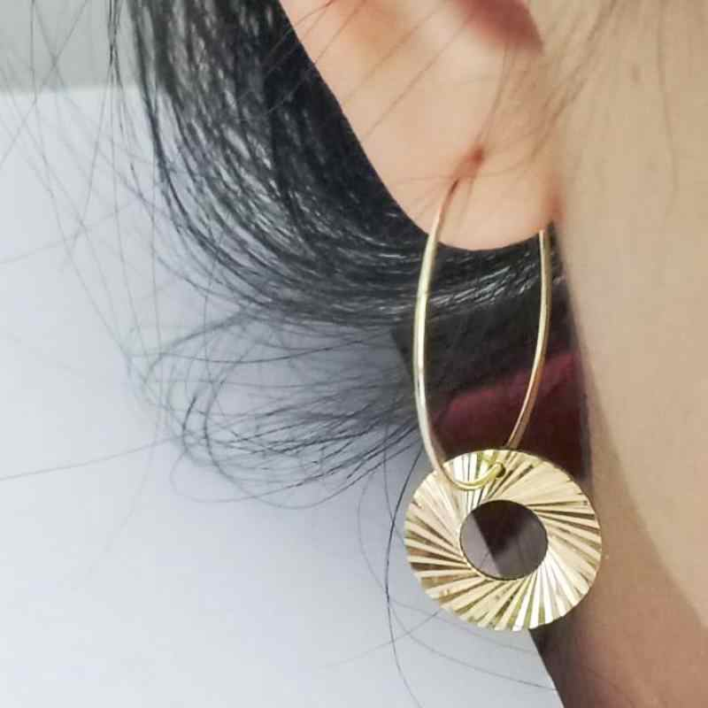 New Fashion Personality Circle Rivets Best Selling Simple Popular Gold Geometric Earrings Wild Jewelry Wholesale
