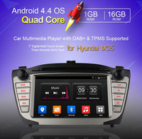 2 Din Android 4.4 Сенсорный Панель для Hyundai iX35 Tucson 2009 2015 Автомобильный GPS Навигации Радио Плеер Quad Core зеркало wifi 3 Г