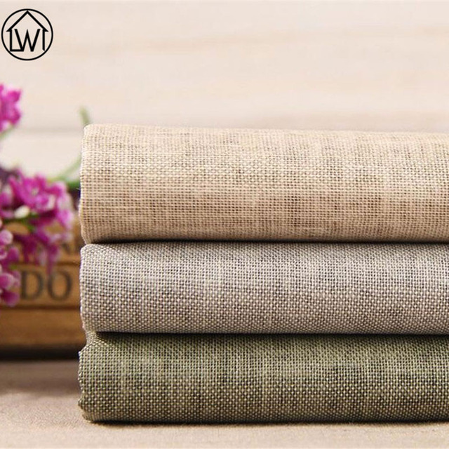 100% Linen Non Woven Felt Cotton Fabric for DIY Sewing  Wax Coating Solid Kids Bedding Fabric Apparel Sewing Tecido Seda