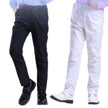Черные брюки для мальчиков на весну и осень детские тонкие белые