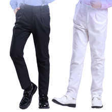 Boys' black trousers for spring and autumn baby kids thin white trousers for children costume teenage casual pants young unisex недорого