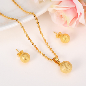 Gold cute Bead Jewelry sets ne
