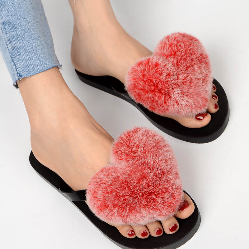 slipper real fur pompom (14)