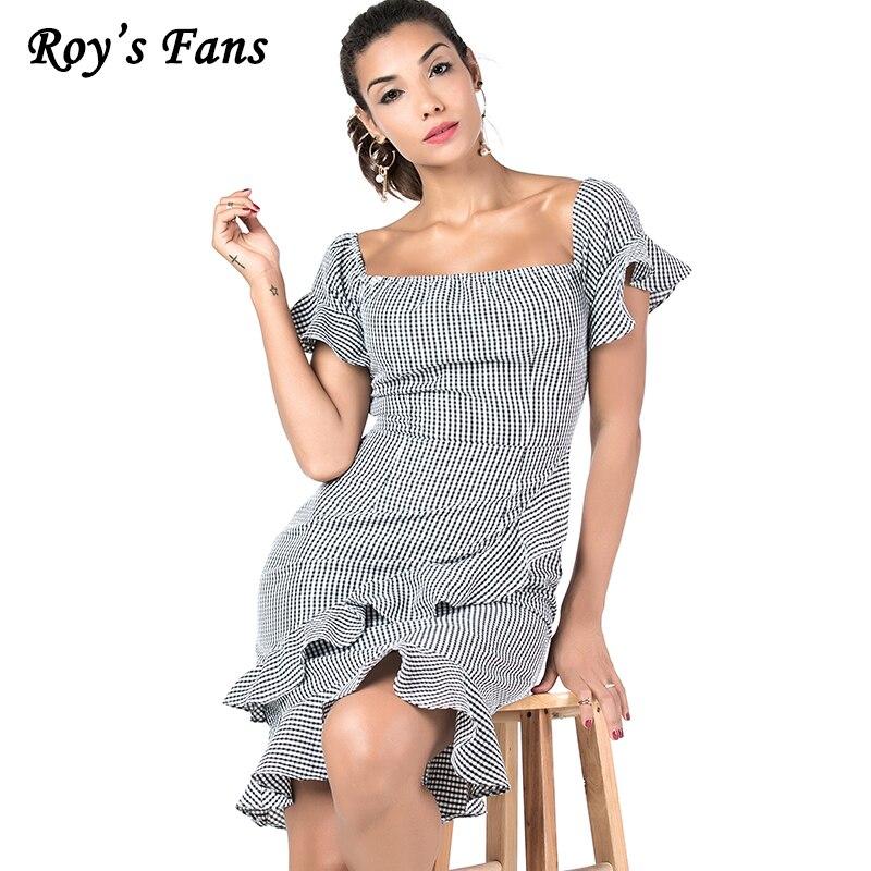 d7800140331 Roy-Fans-de-Femmes-D-t-Automne-Plaid-Manches-Courtes-Ruches-De-Mode-Robe -Vintage-l.jpg