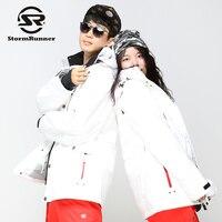 StormRunner Men's snow jacket women's snow jacket couple style snow jacket white snow ski jacket
