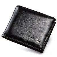Echtes Leder Brieftasche Männer Neue Marke Geldbörsen für männer Schwarz Braun Bifold Brieftasche Zipper Geldbörse Brieftaschen Mit Geschenk Box-in Geldbeutel aus Gepäck & Taschen bei